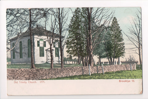 CT, Brooklyn - Old Trinity Church, 1771 - postcard - B06365