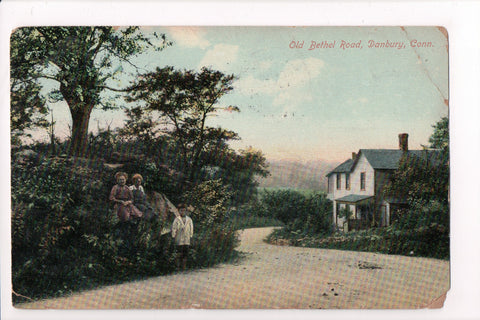 CT, Danbury - Old Bethel Road, house, with kids - B17170c