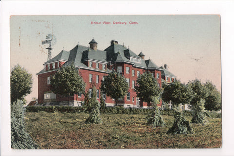 CT, Danbury - Broad View building, windmill - not a postcard - D05373
