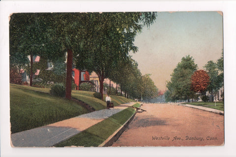 CT, Danbury - Westville Ave postcard - B17019