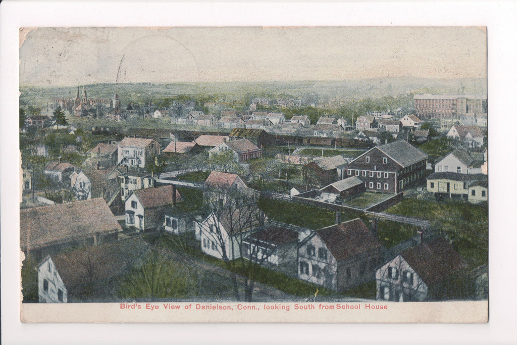 CT, Danielson - Bird Eye view, south from School - S01488