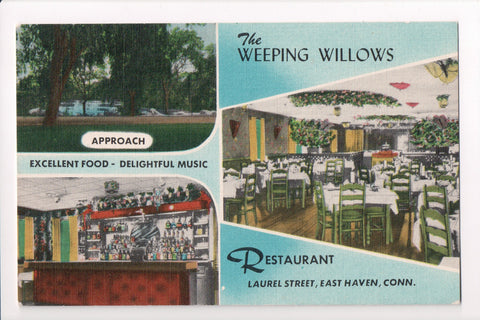 CT, East Haven - Weeping Willows Restaurant postcard - D04174