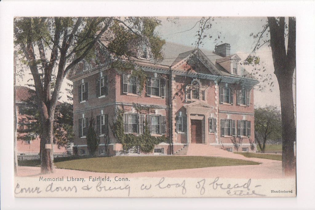 CT, Fairfield - Memorial Library - H H Jackson - A10024