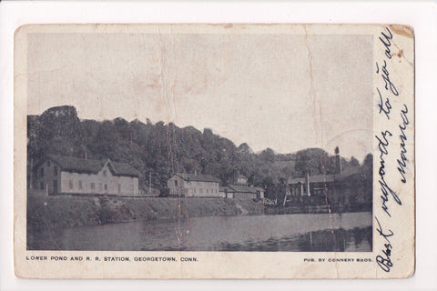 CT, Georgetown - Railroad Station, Lower Pond - z17021 **DAMAGED / AS IS**