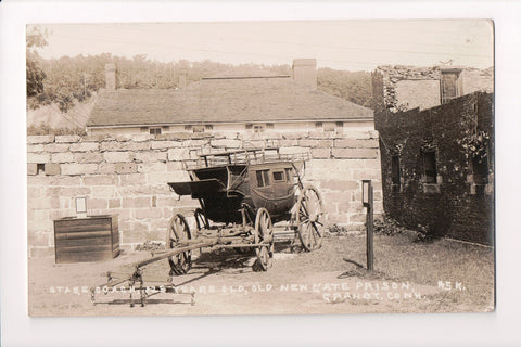 CT, Granby - Stage Coach, Old New Gate Prison - RPPC - D08065