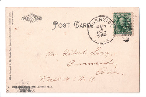 pm DPO - CT, Burnside - 1905 or 1906 cancel - Helbock S/I #2 - A10005
