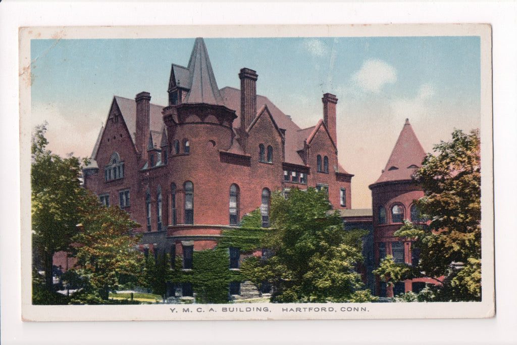 CT, Hartford - YMCA Building postcard - w03789