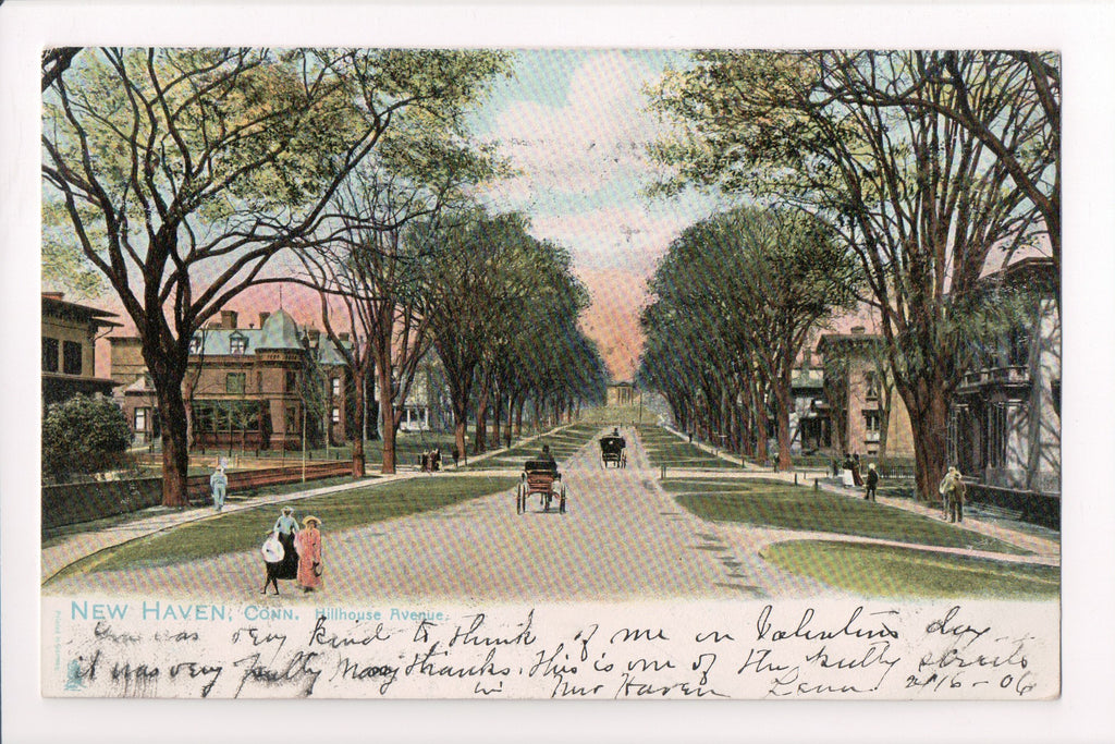 CT, New Haven - Hillhouse Avenue - Tuck postcard -- D06251