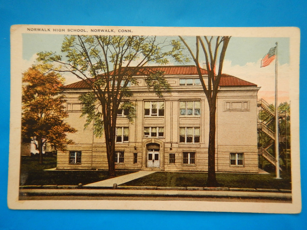 CT, Norwalk - Norwalk High School - A Kleban and Sons card - A07194