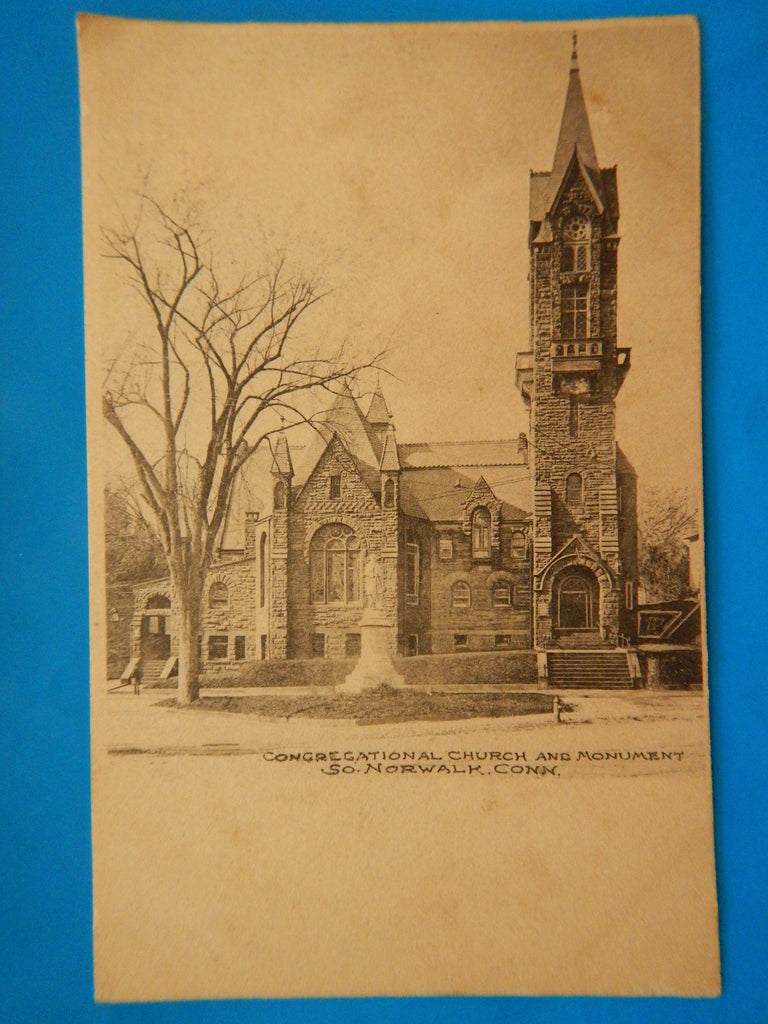 CT, South Norwalk - Congregational Church and Monument - H15085