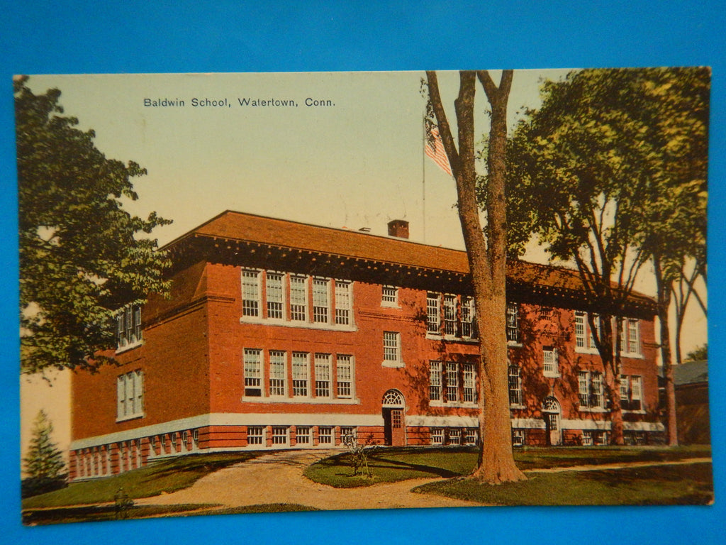 CT, Watertown - Baldwin School - Dan G Sullivan postcard - H15081