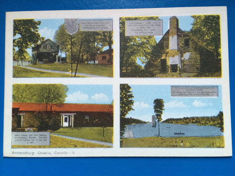 Canada - Amherstburg, ON - 4 views postcard - RP0033