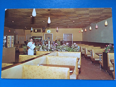Canada - Antigonish, NS - Wongs Restaurant interior postcard - C-0089