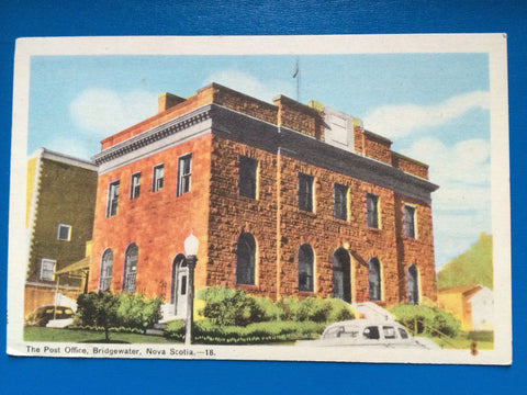 Canada - Bridgewater, NS - Post Office postcard - H15100