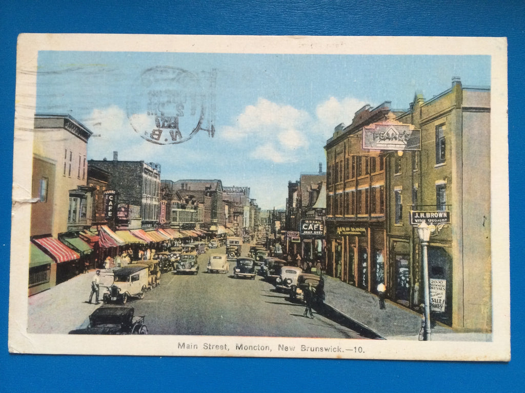 Canada - Moncton, NB - Main Street with signs - J06100