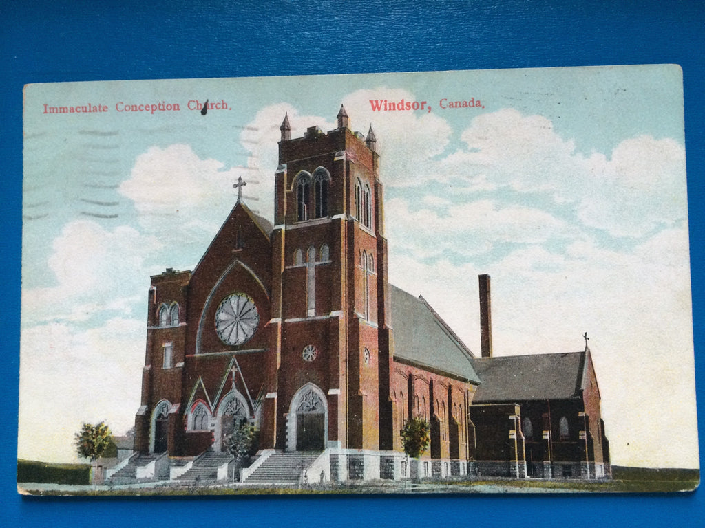 Canada - Windsor, ON - Immaculate Conception Church postcard H15097