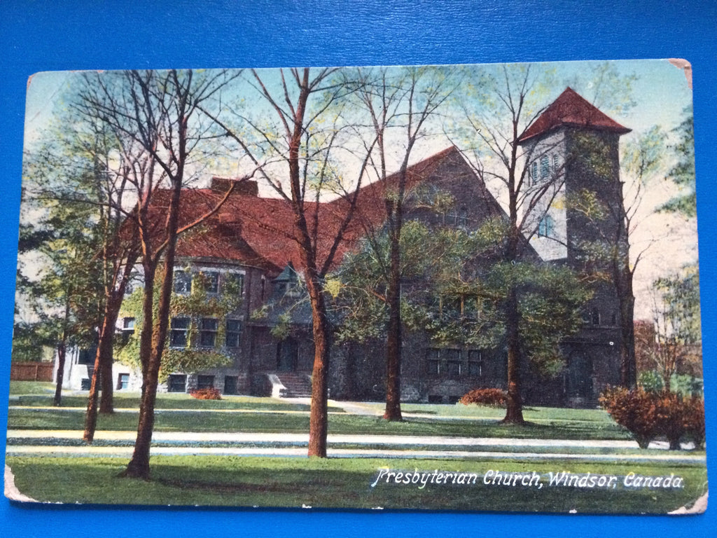 Canada - Windsor, ON - Presbyterian Church postcard - H15098