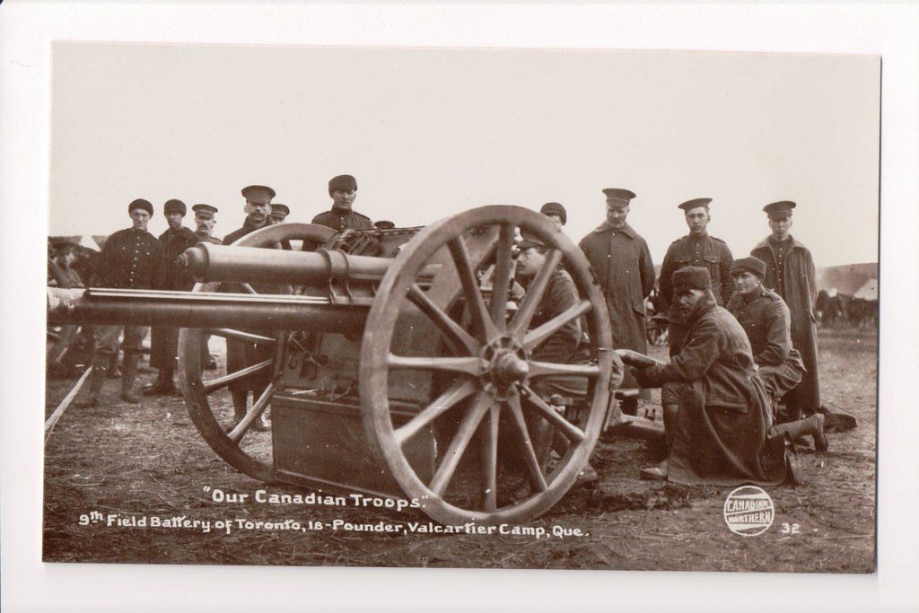 Canada - Valcartier Camp, QC - 9th Field Battery, 18 pounder (ONLY Digital Copy Avail) - F11021
