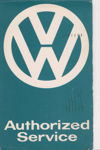 Car Postcard - VW Authorized Service card, @1963 Framingham, MA - 505105