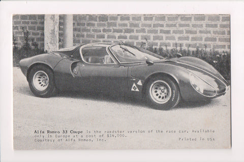 Car Exhibit Card - 33 Coupe - Alfa Romeo - B08145