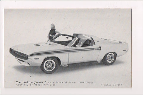 Car Exhibit Card - YELLOW JACKET - Dodge Convertible - MB0095