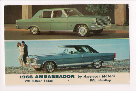 Car Postcard - AMBASSADOR (1966) 990 4 door Sedan, DPL Hardtop - w04179