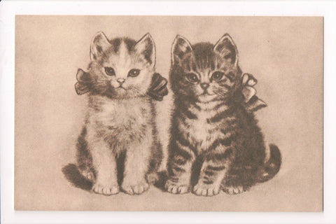 Animal - Cat or cats postcard - 2 kittens - Post Card Enthusiasts - A06751