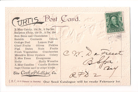 Advertisement postcard - COOK and PHILLIPS CO - Candy, Seeds - G03319