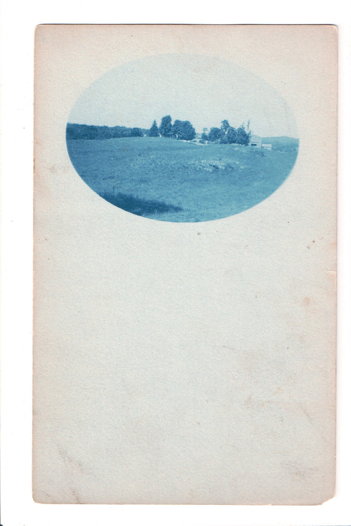 Cyanotype Real Photo Postcard of a homestead? - 800172