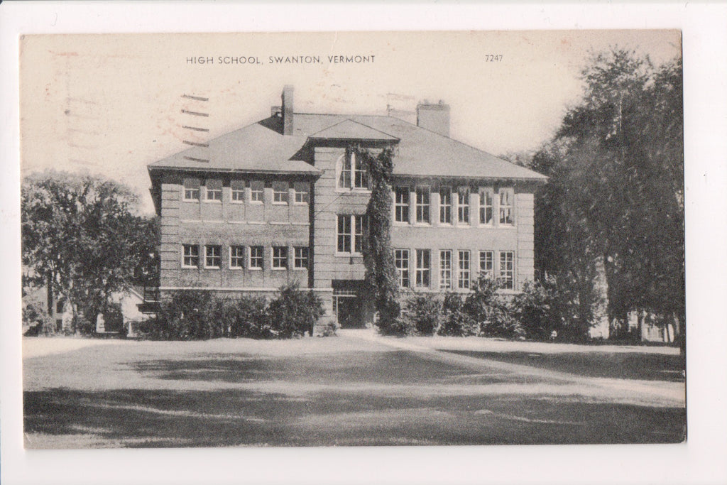 VT, Swanton - High School - @1960 postcard - D08043