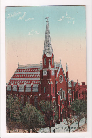 DC, Washington - Calvary Baptist Church postcard - w01647
