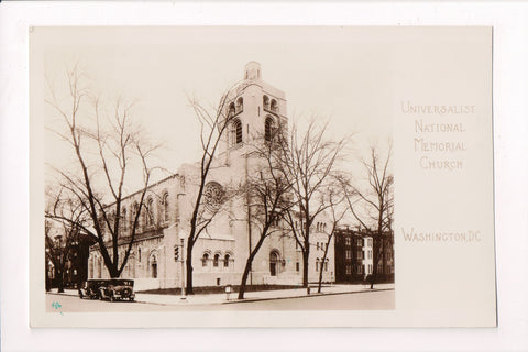 DC, Washington - Universalist National Memorial Church RPPC - G06018