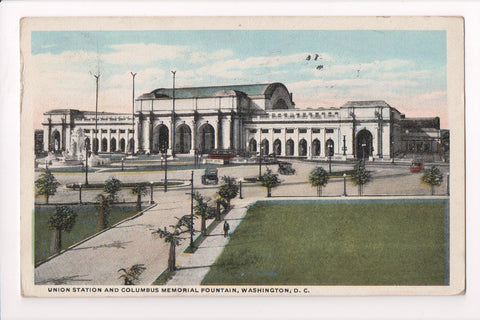 DC, Washington - Union Station and Columbus memorial fountain - S01740