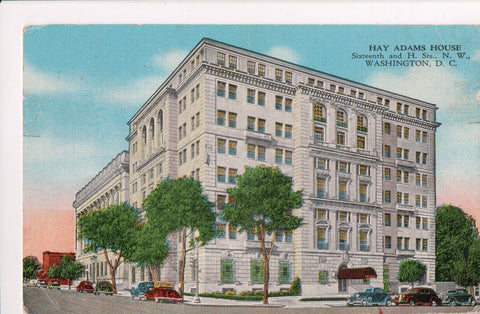 DC, Washington - Hay Adams House on 16th and H Streets postcard - w00564