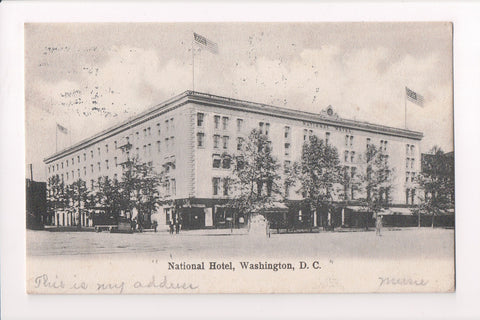 DC, Washington - National Hotel closeup postcard - w03446