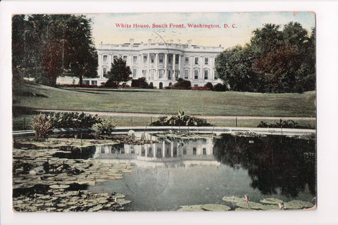 DC, Washington - White House, South Front with Pond - w03553