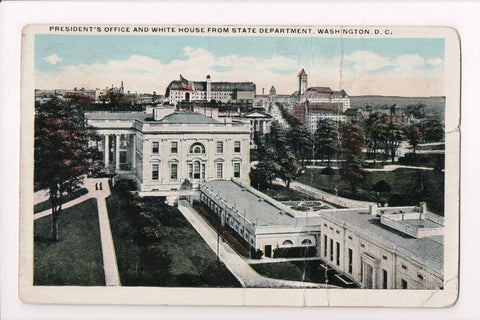 DC, Washington - Presidents Office, White House - @1921 - z17004 **DAMAGED / AS