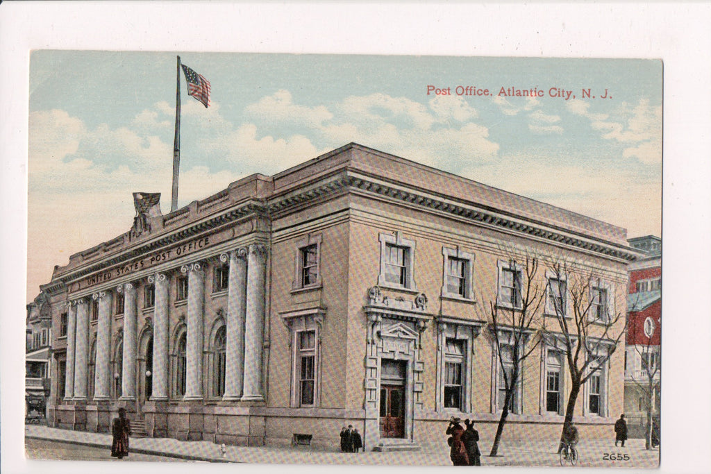 NJ, Atlantic City - Post Office postcard - E04310