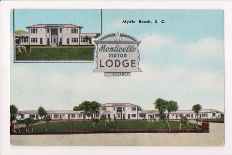 SC, Myrtle Beach - MONTICELLO Motor Lodge - on US 17 - 16 units - E05046