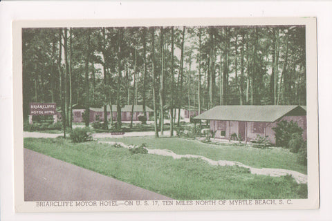 SC, Myrtle Beach - BRIARCLIFFE Motor Hotel - vintage postcard - E05052