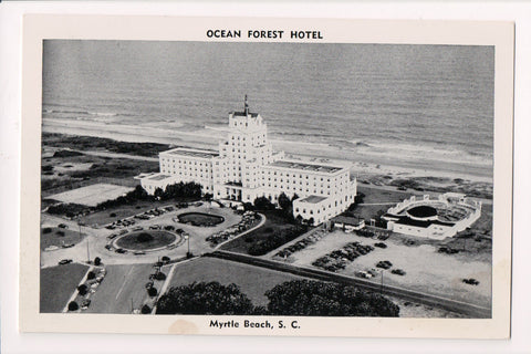 SC, Myrtle Beach - OCEAN FOREST postcard from above - E05057