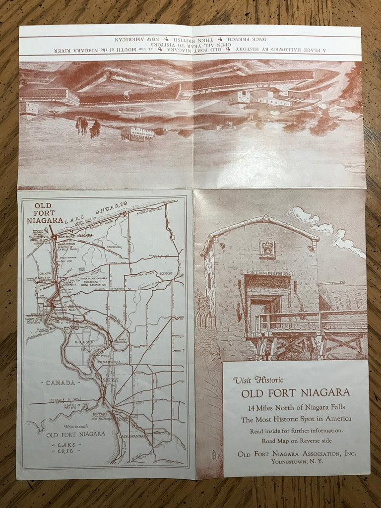 NY, Youngstown - Old Fort Niagara brochure, road map - E10292