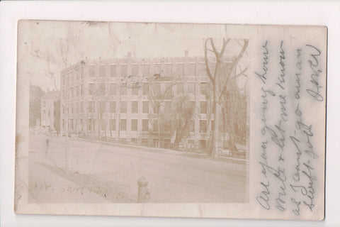 CT, Bridgeport - Star Shirt Factory building, fire hydrant, RPPC - E17043