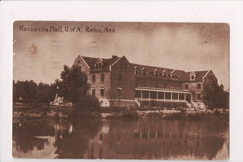 NV, Reno - U of N, Manzanita Hall - @1919 postcard - E17082