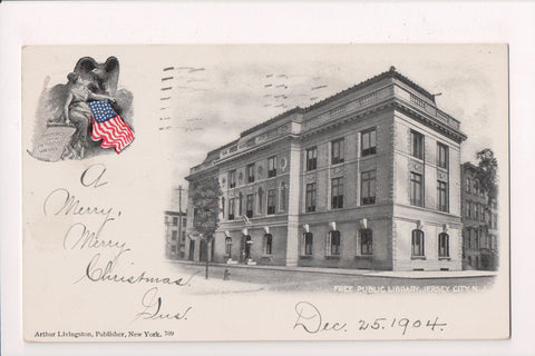 NJ, Jersey City - Free Public Library - Livingston Publisher - EP0091