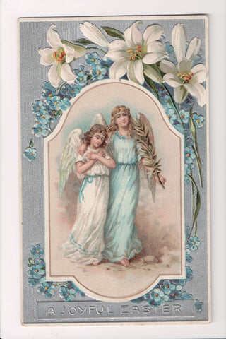 Easter - 2 Angels, one in white with blue sash other in blue gown - SL2185