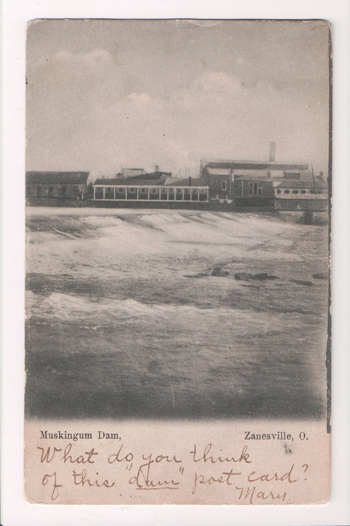 OH, Zanesville - MUSKINGUM DAM - @1907 Edmiston Book and Sta Co - F03231