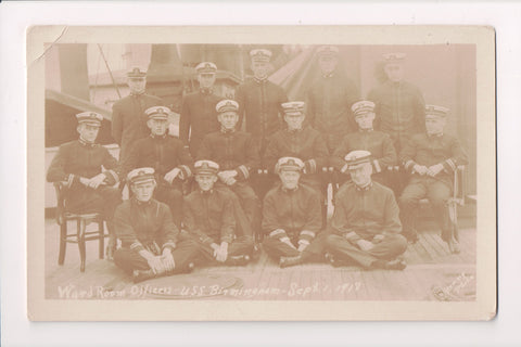 Misc Military - USS Birmingham, Ward Room Officers - @1918 RPPC - F09018