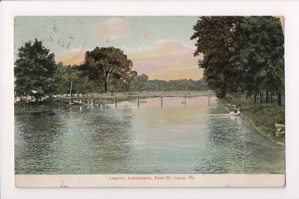IL, East St Louis - LANSDOWNE PARK, bridge - @1912 postcard - F09106
