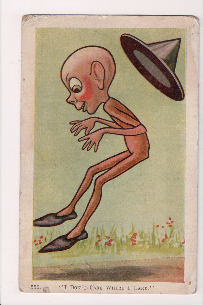 Halloween - bald witch, wearing only shoes, hat falling off - F09247